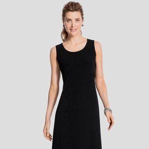 Chico's Travelers, Midi Black Dress Women's L Sz 2